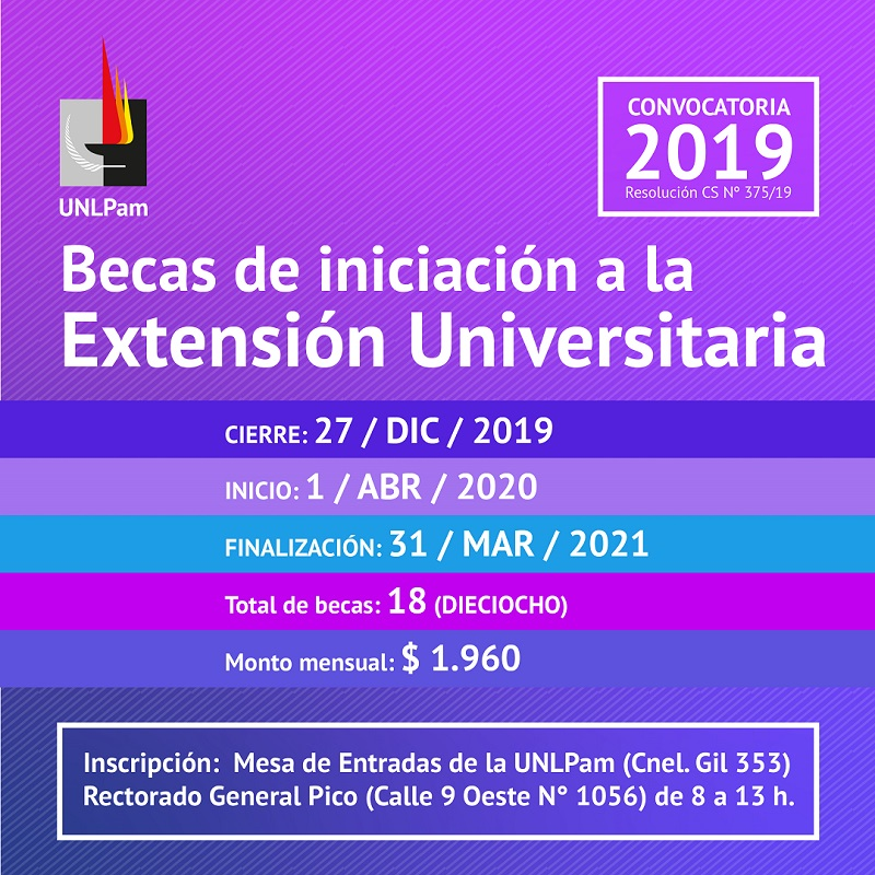 becas extension2019